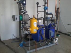 Installation av ny värmecentral